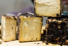 Delicious fresh cheese block. Delicious fresh italian cheese blocks Royalty Free Stock Photo