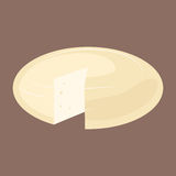 Delicious fresh cheese variety italian dinner icon flat dairy food and milk camembert piece delicatessen gouda meal Stock Photo