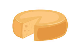 Delicious fresh cheese variety italian dinner icon flat dairy food and milk camembert piece delicatessen gouda meal. Isolated vector illustration. Traditional vector illustration