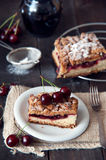Delicious and fresh cherry pie Royalty Free Stock Photos