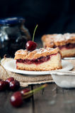 Delicious and fresh cherry pie Royalty Free Stock Image