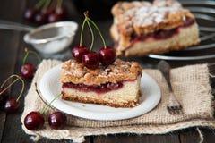 Delicious and fresh cherry pie Stock Photo