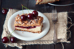 Delicious and fresh cherry pie Royalty Free Stock Images