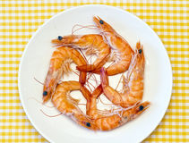 Delicious fresh cooked shrimp Royalty Free Stock Image