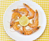 Delicious fresh cooked shrimp Royalty Free Stock Photos