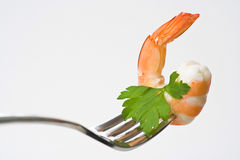 Delicious fresh cooked shrimp prepared Royalty Free Stock Image