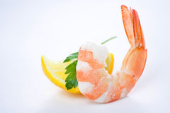 Delicious fresh cooked shrimp prepared Royalty Free Stock Photos