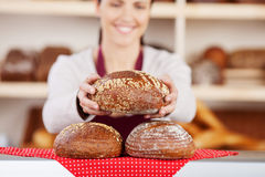 Delicious fresh crusty loaves of bread Stock Photo