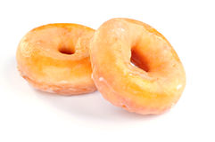 Delicious and fresh donuts for breakfast. On white background Stock Images