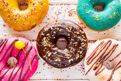 Delicious fresh donuts Royalty Free Stock Images