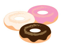Delicious fresh Donuts Royalty Free Stock Photo