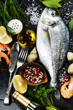 Delicious fresh fish Stock Photography