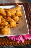 Delicious fresh fried shrimp Royalty Free Stock Images