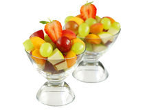 Delicious fresh fruit bowls Stock Images