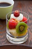 Delicious fresh fruit salad for breakfast Royalty Free Stock Photography