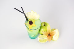 Delicious fresh green cocktail. In studio Stock Photography