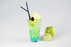 Delicious fresh green cocktail. In studio Royalty Free Stock Photos