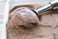 Delicious fresh homemade chocolate ice cream Royalty Free Stock Images
