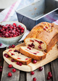 Delicious fresh homemade cranberry loaf Stock Photos