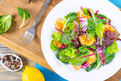 Delicious fresh low-calories salad with chicken breast Stock Photography