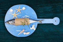 Delicious fresh mackerel fish. Stock Photography