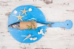 Delicious fresh mackerel fish. Stock Photos