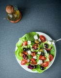 Delicious fresh Mediterranean or Greek salad Royalty Free Stock Photos