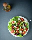 Delicious fresh Mediterranean or Greek salad Royalty Free Stock Photos