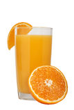 Delicious fresh natural orange juice in a glass Royalty Free Stock Image