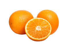 Delicious fresh natural ripe cut oranges Stock Photos