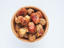 Delicious fresh organic dates over white background Royalty Free Stock Images