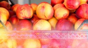Delicious fresh peaches Stock Photo