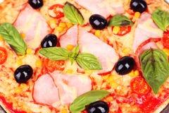 Delicious fresh pizza, close up Royalty Free Stock Photos