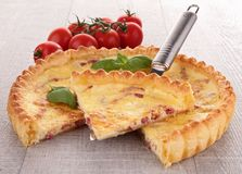 Delicious fresh quiche Stock Photography