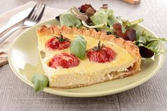Delicious fresh quiche Stock Photo