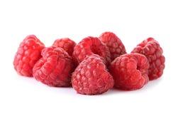 Delicious fresh raspberries on white background. Delicious fresh ripe raspberries on white background Royalty Free Stock Image