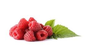 Delicious fresh raspberries on white background. Delicious fresh ripe raspberries on white background Stock Photo