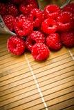 Delicious fresh raspberries Stock Image
