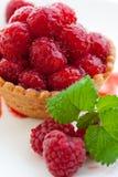 Delicious fresh raspberry tart Stock Image
