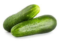 Delicious fresh ripe cucumbers Stock Photography