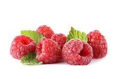 Delicious fresh ripe raspberrie. S on white background Stock Photos