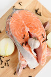 Delicious fresh salmon steak Royalty Free Stock Photography