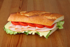Delicious fresh sandwich Stock Image