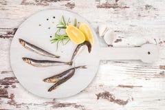 Delicious fresh sardines Stock Photos
