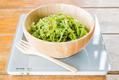 Delicious fresh seaweed spicy salad Royalty Free Stock Photo