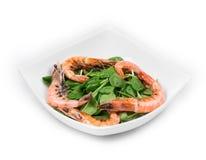 Delicious fresh shrimps Stock Photos