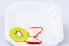 Delicious fresh  slice kiwi fruit on  white background Stock Photos