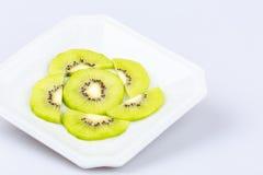 Delicious fresh  slice kiwi fruit on  white background Royalty Free Stock Images