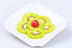 Delicious fresh  slice kiwi fruit on  white background Royalty Free Stock Image