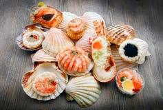 Delicious fresh specialties of shellfish. A delicious fresh specialties of shellfish royalty free stock photos